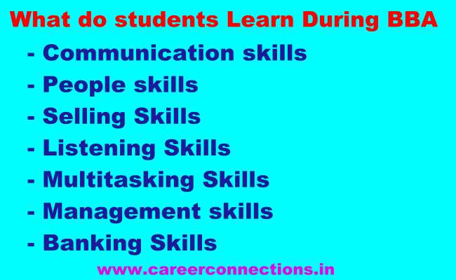What students learn during BBA course